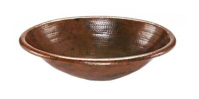Oval Self Rimming Hammered Copper Sink [ID 125307]