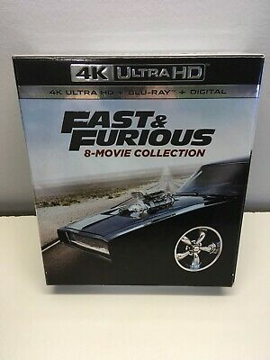 The Fast & The Furious Full 8-Movie Collection (4K+Blu-ray-NO DIGITAL,17-Discs)