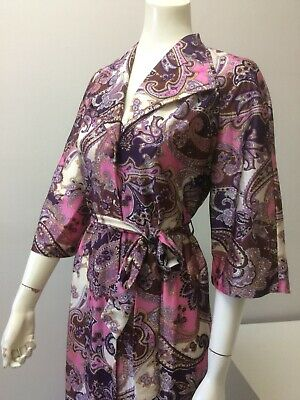 Original Vintage 60s Dressing Gown Robe,House Coat XXL ,Lingerie,Burlesque Pinup