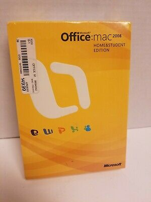 Microsoft Office 2008 Home and Student Edition for Mac NEW SEALED