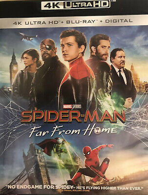 SPIDERMAN FAR FROM HOME **1080p BLU RAY DISC & DIGITAL ONLY**READ DESCRIPTION**