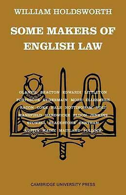 Some Makers of English Law by William Holdsworth (English) Paperback Book Free S
