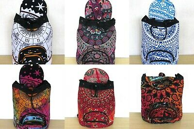 Wholesale Lots Indian Man Woman Backpack Cotton Fabric Hippie Sport Bags 20 Pcs