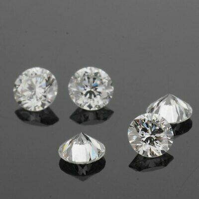 Labo Grown Diamants 0.50 CT 2 Pierres Paire Def vs Rond Brillant Coupe Hpht