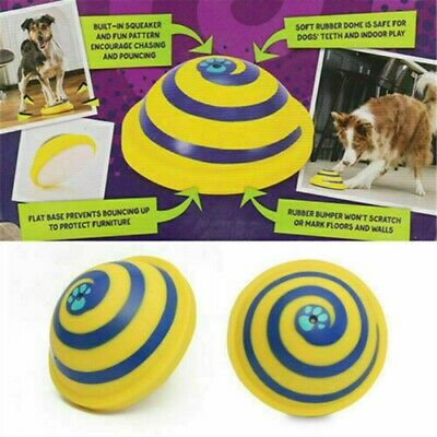 ❤️Dog Toy Sounding Disc Safe Fun Play Woof Glider Squeaky For All Dog Training❤️