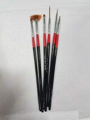 NEW - Nail Art Brushes (6 Pack) UK SELLER