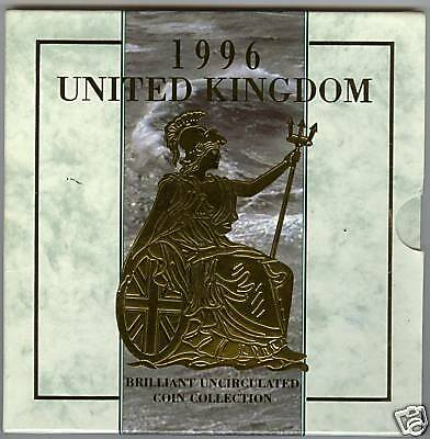 1996 Brilliant Uncirculated Coin Collection Of 8 Coins In Royal Mint Pack