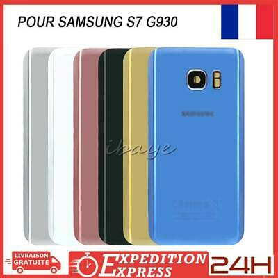 VITRE ARRIERE CACHE BATTERIE SAMSUNG GALAXY S7 G930+ADHESIF+LOGO+Lentille Camera