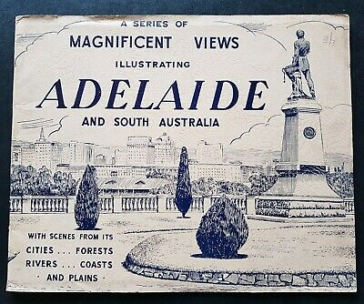ADELAIDE MAGNIFICENT VIEWS ILLUSTRATED 1940s Vintage South Australia District