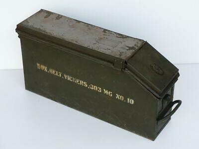 1942 VICKERS .303 Machine Gun Ammunition / Ammo Belt Box Tin WWII Australia 303