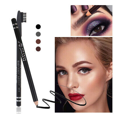 Tool Long Lasting Eyebrow Pencil Brow Liner Pen Double Head with brush Fluent