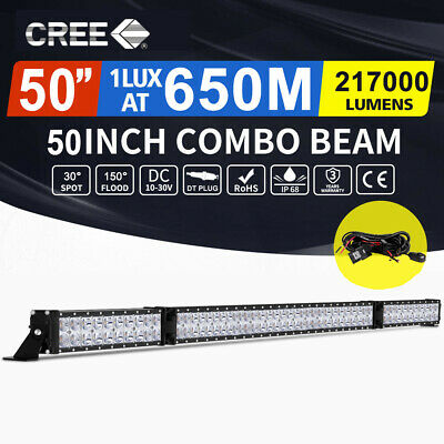 Autofeel 50inch Cree  Fold LED Light Bar Spot Flood Driving Offroad 4x4 52""