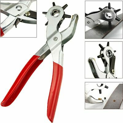 Puncher Perforator 9'' Revolving  Plier Tool For Watchband/Card/Leather Belt