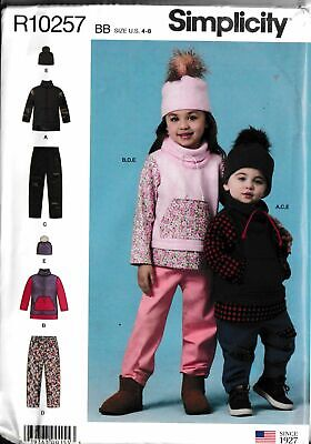 Childs Unisex Boys Girls Pants Knit Top & Hat Size 4-8 Sewing Pattern