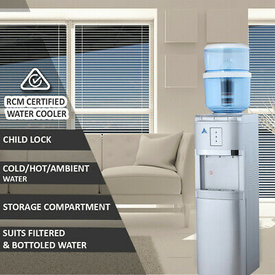 Water Cooler Dispenser 8 Stage Water Filter Purifier Free Standing Silver 20L