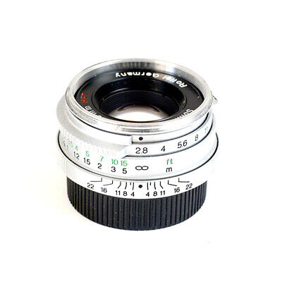 Rollei HFT Sonnar 2.8/40mm M39 SILVER LTM L39  GERMANY LENS RARE++