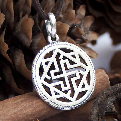 Valkyrie Pendant Necklace 925 Sterling Silver Norse Viking Scandinavian Jewelry