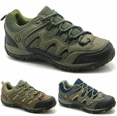 New Mens Quality Hiking Boots Walking Trail Trekking Work Boys Trainers Shoes