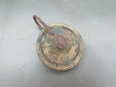 Old Grandfather Longcase clock brass pulley for spares parts