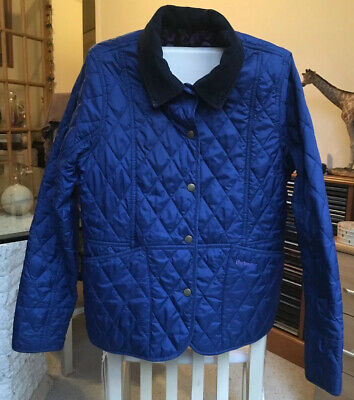 Barbour Girls Womens Navy Jacket Country Cottage Prints Size 14-15 Years
