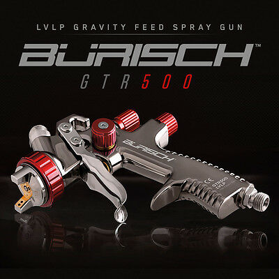 BURISCH LVLP Spray gun spraygun GTR500 1.3mm Gravity Feed Fed