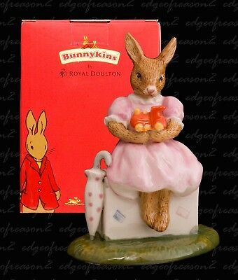 Royal Doulton Bunnykins Figurine Sitting On A Suitcase