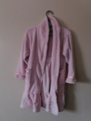 Girls Fleece Dressing Gown Age 6-7 Years Disney Princess Pink