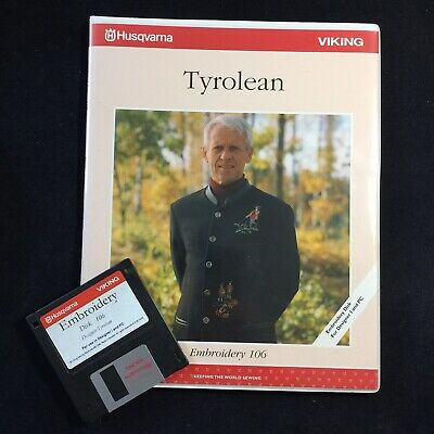 Tyrolean Embroidery Designs Disk #106 for Husqvarna Viking Designer 1