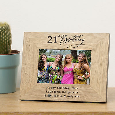 21st Birthday Photo Frame  with personalised engraved #1