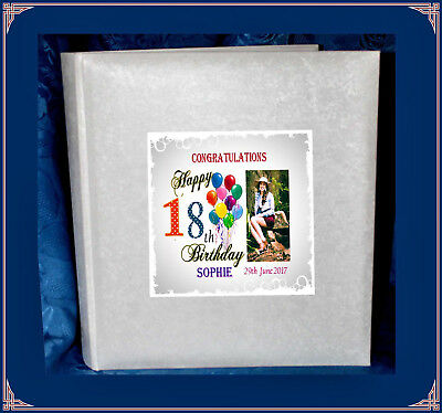 18th Birthday tissue interleaved album Personalised  Present | Cellini Albums #1
