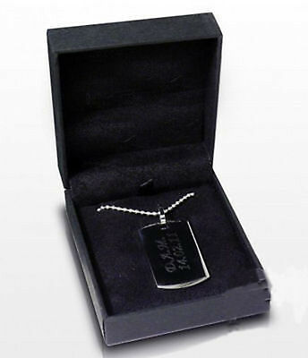 Men's dog tag with engraved message commemorative | Cellini Gift #1