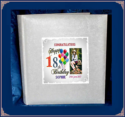 18th  Birthday Interleaved Photo Album personalised gift  with Photo |7