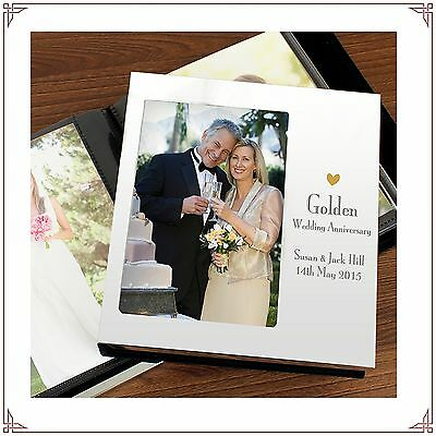 50th Golden Wedding Anniversary personalised Aluminium Photo Album