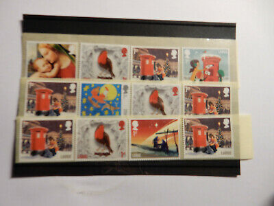 50 unfranked large 1st class Christmas stamps, off paper,original gum