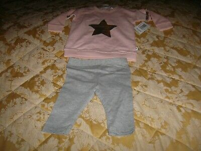 Baby Girls Two Piece Set Pink/Grey age 3-6 Mths Matalan Bnwt