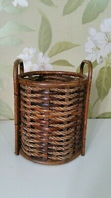 Vintage Wickers round Strong Basket