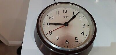"Smiths Sectric "" Delhi Minor "" Small Bakelite Wall Clock. Ideal Spares/Repairs."