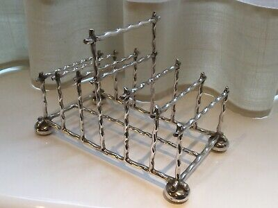 Superb Antique Victorian Hukin And Heath Silver Plated Footed Toast Rack