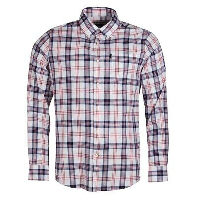 15% OFF! Barbour Oxford Check 3 Tailored L/S Shirt Rich Red