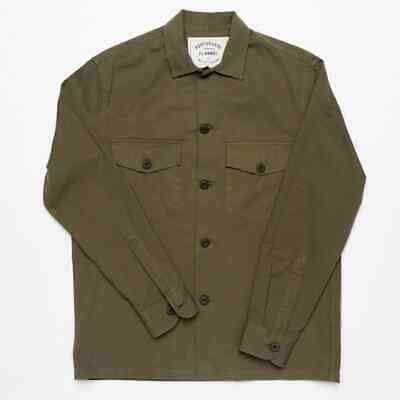 15% OFF! Portuguese Flannel Army Overshirt Green