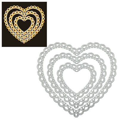 Lace Heart  Metal Cutting Dies Stencil Embossing Craft Die Cuts DIY Stamps Cards