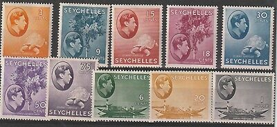 SEYCHELLES George VI 1938-41 mint selection Cat £285