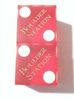 1990s BOULDER STATION CASINO LAS VEGAS, NEVADA DICE PAIR GREAT FOR COLLECTION!