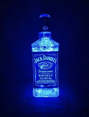 Jack Daniels Lampe Flaschenlampe Mit 100 LED's Upcycling Geschenk