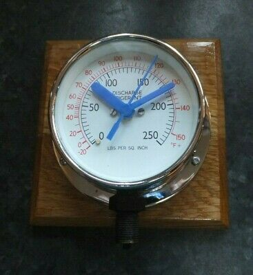 Man cave, recycled converted refrigerant gauge wall clock
