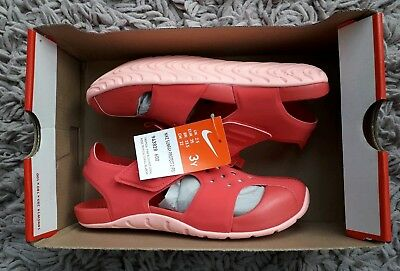 Nike Sunray Protect 2 Swim Sandals Size Uk 2.5 Summer Holiday Beach New Pink