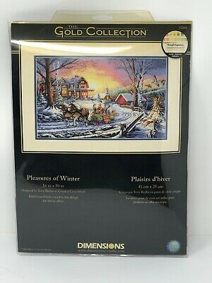Dimensions Gold Collection Pleasures of Winter Cross Stitch Kit 35208