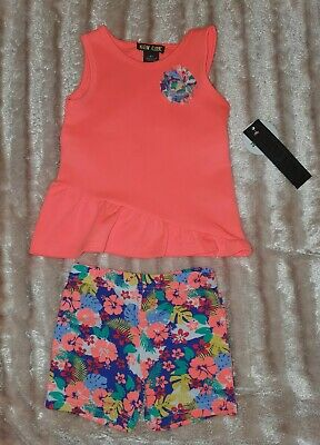 Girls Floral Outfit Top & Shorts Set 2 YEARS / 24 MONTHS