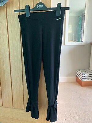 River Island girls black flared trousers age 11/12 yrs