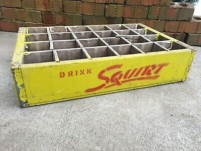 Vintage Wooden Soda Crate Drink Squirt 1950S Box